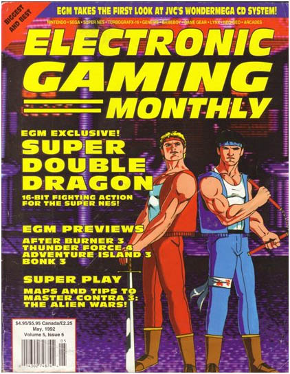 Revista Eletronic Gaming Montly, de maio de 1992