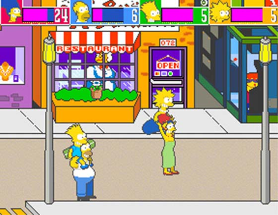 Cena do jogo de The Simpsons